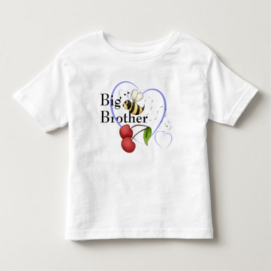 Big Brother Bumble Bee Cherry Blue Heart Toddler T-shirt