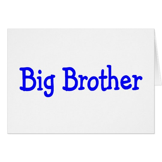 Big Brother Card