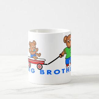 Big Brother Cartoon Bears in Wagon Mug for Boys