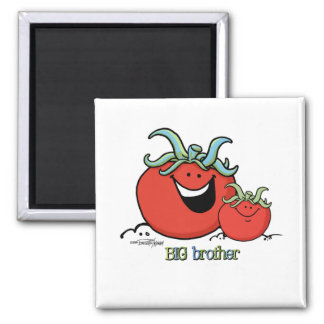 Big Brother - Chief tomato 2 Inch Square Magnet