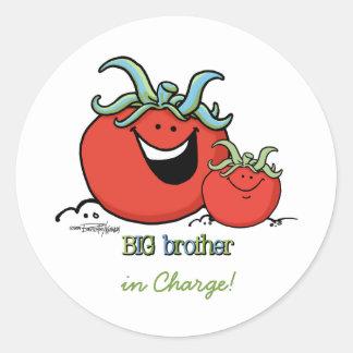 Big Brother - Chief tomato Classic Round Sticker