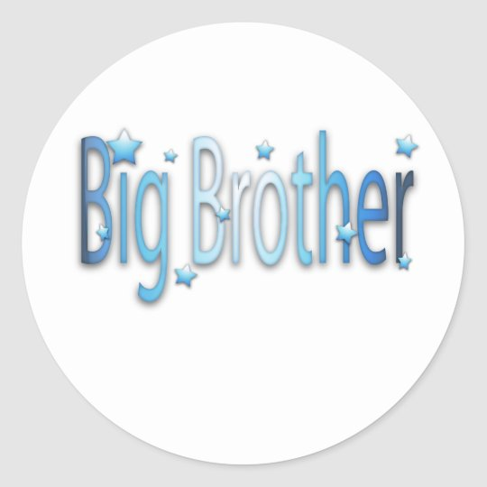 big.brother classic round sticker
