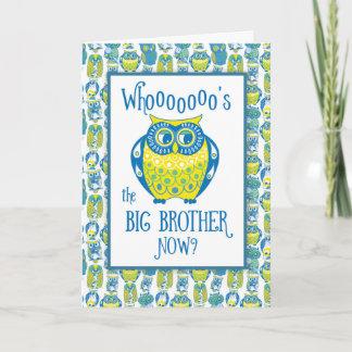 Big Brother Congratulations, Cute Owls Card