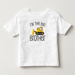 Big Brother Construction Front Loader Toddler T-shirt
