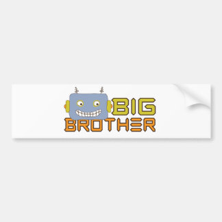 Big Brother Cool Robot Bumper Stickers