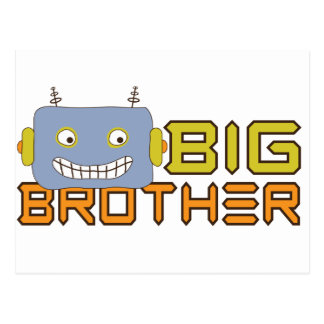 Big Brother Cool Robot Postcard