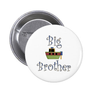 Big Brother Cute Boat Pinback Button
