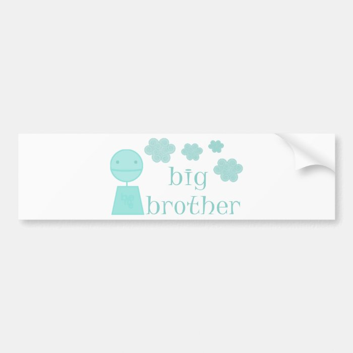 Big Brother Cute Design! Bumper Sticker
