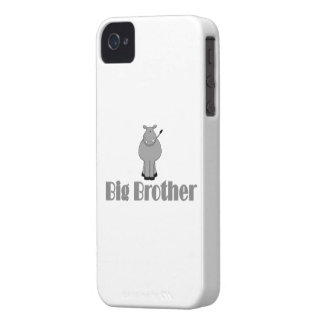 Big Brother Cute Hippo iPhone 4 Case-Mate Case