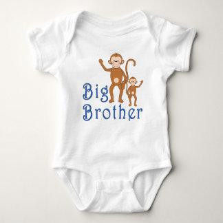 Big Brother Cute Monkeys Baby Bodysuit