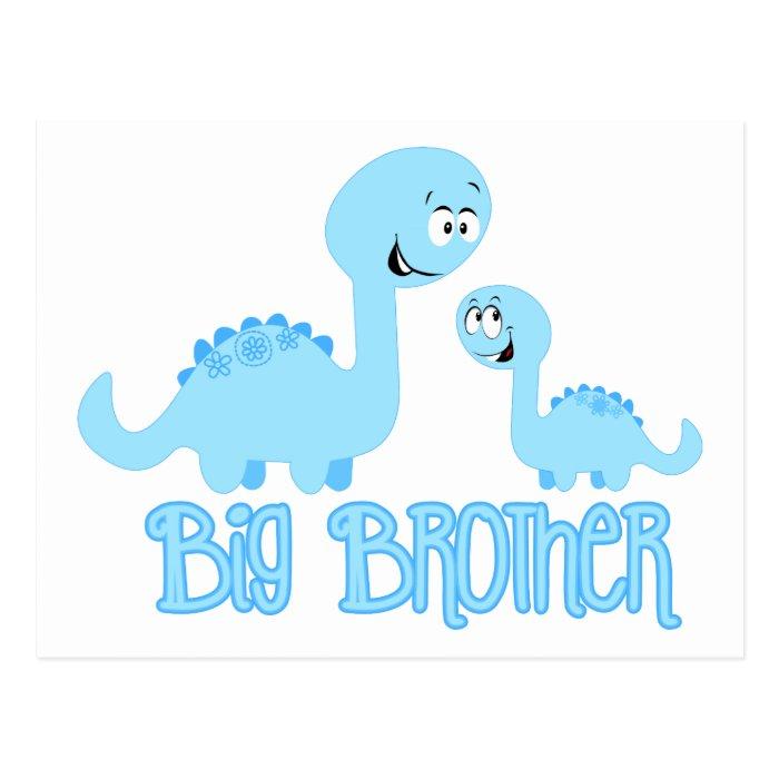 Big Brother Dinosaur Postcard