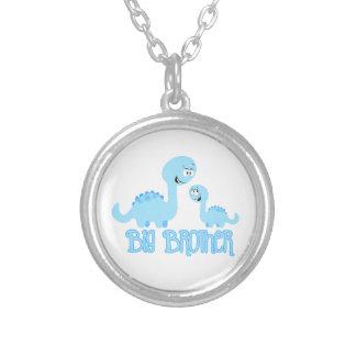 Big Brother Dinosaur Round Pendant Necklace