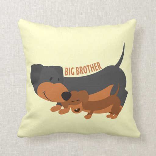 How Big Should Throw Pillows Be : Big Brother (dogs) Throw Pillow Zazzle