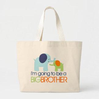 Big Brother Elephant T-shirt Large Tote Bag