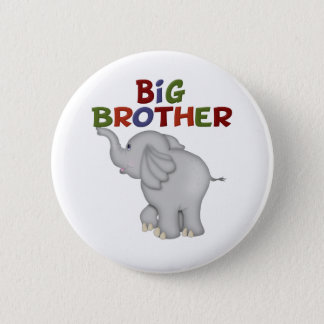 Big Brother Elephant  T Shirts and Gifts Button