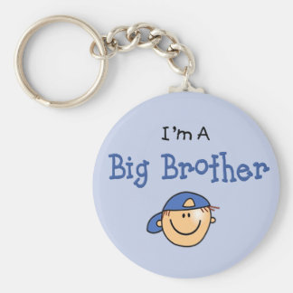 Big Brother Face Basic Round Button Keychain