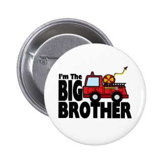 Big Brother Fire Truck 2 Inch Round Button