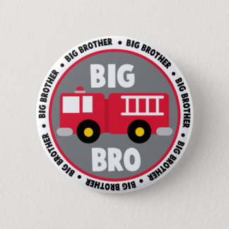 Big Brother Fire Truck Pinback Button