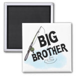 Big Brother Fishing Tshirts and Gifts Refrigerator Magnet