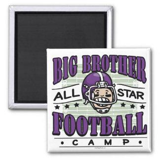 Big Brother Football Purple Helmet Magnet
