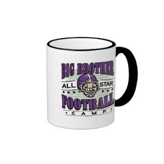 Big Brother Football Purple Helmet Mugs