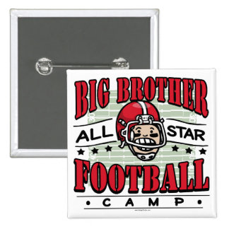 Big Brother Football Red Helmet Pinback Button