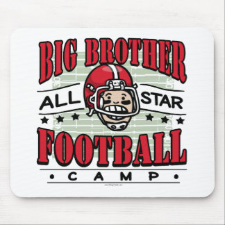 Big Brother Football Red Helmet Mouse Pad