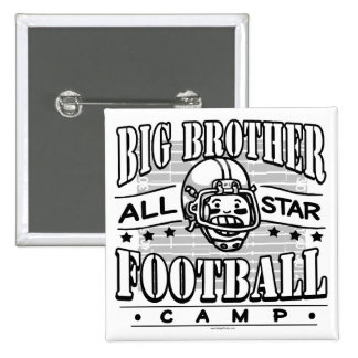 Big Brother Football White Helmet Button