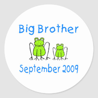 Big Brother Frog September 2009 Classic Round Sticker