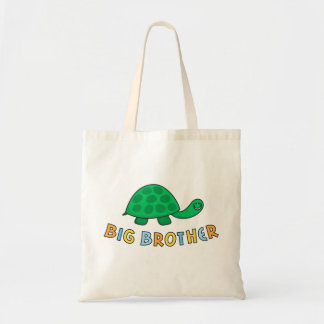 Big brother funny turtle or tortoise kids tote bag