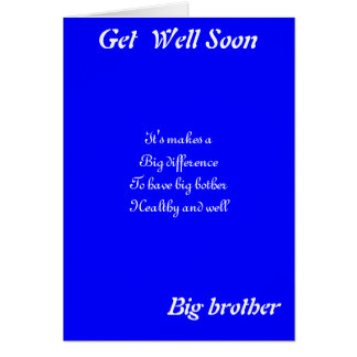Big brother get well greeting cards