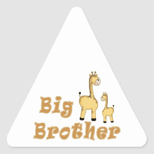 Big Brother Giraffe Triangle Sticker