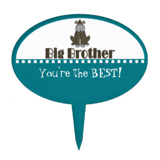 Big Brother Gorilla Personalized Cake Topper
