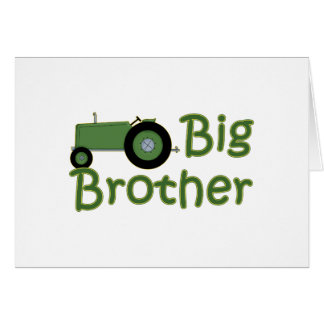 Big Brother Green Tractor Card