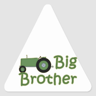 Big Brother Green Tractor Triangle Sticker