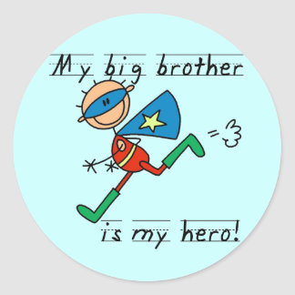 Big Brother Hero T-shirts and Gifts Classic Round Sticker