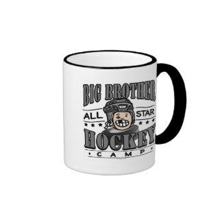 Big Brother Hockey Black Helmet Coffee Mugs