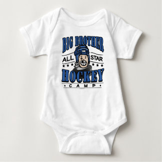Big Brother Hockey Camp Blue Helmet Baby Bodysuit