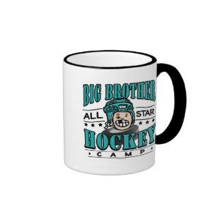 Big Brother Hockey Camp Teal Helmet Coffee Mugs