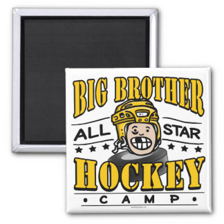 Big Brother Hockey Yellow Helmet Magnet