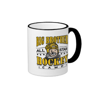 Big Brother Hockey Yellow Helmet Mug