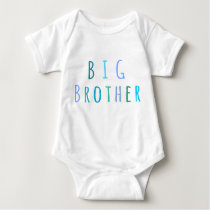 Big Brother in blue Baby Bodysuit