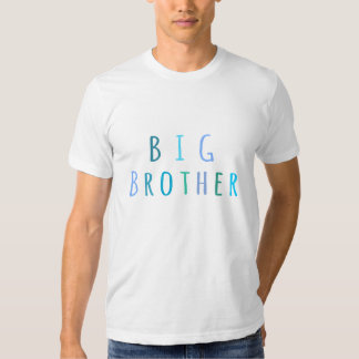 Big Brother in blue T-shirt