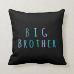 Big Brother in blue Throw Pillows