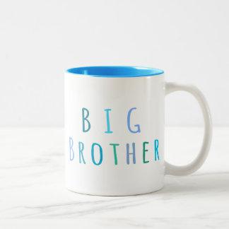Big Brother in blue Two-Tone Coffee Mug