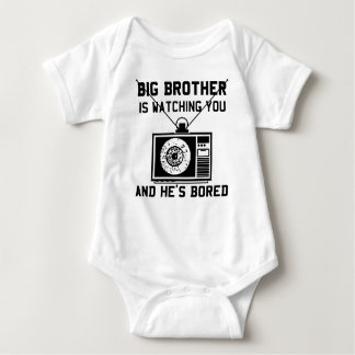 Big Brother Is Bored Baby Baby Bodysuit