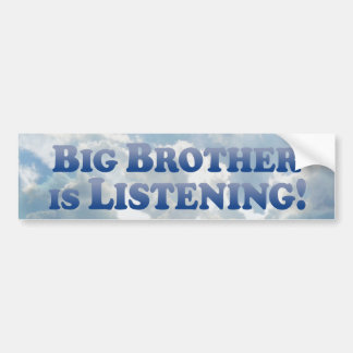 Big Brother Is Listening - Mult-Products Bumper Sticker