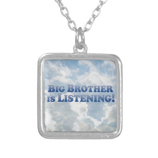 Big Brother Is Listening - Mult-Products Square Pendant Necklace