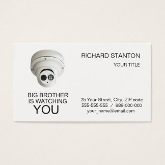 Big brother is watching you business card