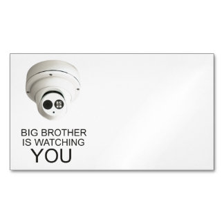 Big brother is watching you business card magnet